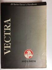 Holden Vectra JS Series Owners Handbook 1998 Car Manual Book