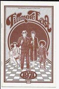 Fillmore East Program  1971  James Taylor, Odetta, Dave Mason & Cass Elliot