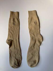POLO RALPH LAUREN Beige Textured Ankle Dress Socks - Men's Large 9 - 12