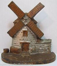 Antique Cast Iron Windmill Doorstop old original paint finely detailed door stop
