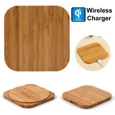 Luxury Qi Wireless Charger Slim Wood Pad Charging Mat For Samsung Galaxy Note 9