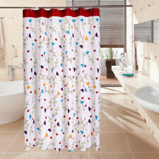 Waterproof Opaque Fabric Bathroom Shower Curtain Red Blue Purple Tulip White New
