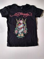 Ed Hardy True Love Red Hearts Roses Boys Toddler T-shirt Size 2-4