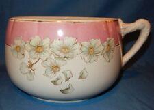Vintage OTTA. Pink White Chamber Pot Apple Blossoms Gold trim circa late 1800's