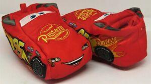 Disney Cars Red Plush Kids Slippers Lightning McQueen Size 7/8.