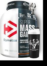 DYMATIZE Super Mass Gainer BCAA Alanine Arginine Powder 2.9kg & SHAKER!