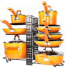 Pots Pans Organizer Kitchen Cabinet Organization Storage Pot Rack Lid Holder