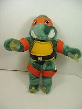 "Teenage Mutant Ninja Turtles 14"" MICHELANGELO SUCTION CUP PLUSH TMNT 1988 Cling"