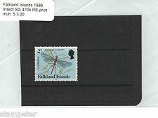 1986 Falkland Islands 2p Insect stamp reprint SG 470b MUH
