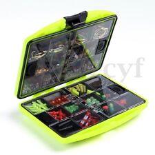 24 Mix Compartments Fishing Tool Tackle Box Full Loaded Lure Bait Hooks Sinker