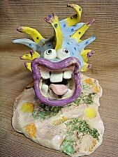 Rare & Signed WILD & CRAZY Fish Sculpture by DAPHNE GRABLE - Sea Sick Clown Fish
