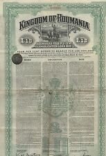 Kingdom of Roumania, 4% bond de 1922, 10 pounds – decoración y oración!