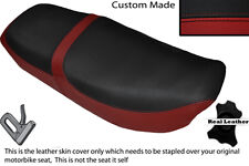 DARK RED &BLACK CUSTOM FITS HONDA CB 650 SC NIGHTHAWK 82-85 DUAL SEAT COVER