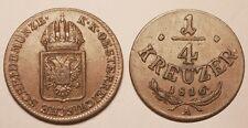 Autriche, 1/4 Kreuzer 1816 A, TTB+ !!