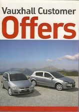 Vauxhall Special Offers Jly-Oct 2006 UK Brochure Corsa Tigra Astra Vectra Signum