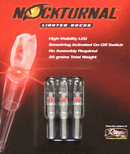Rage Nockturnal-X Lighted Nocks 3pk Red NT-502 #01039 DoubleTake