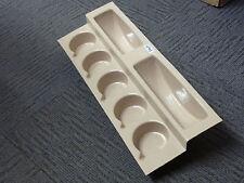 Caravana o autocaravana Cocina Beige taza plástica y soporte de la placa CPH3