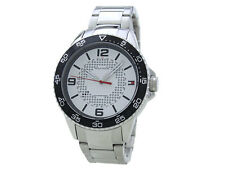 Tommy Hilfiger 1790838 White Dial Silver Stainless Steel Band Men Watch NEW