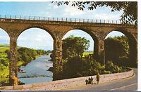 Scotland Postcard - The River Luce and Viaduct - Glenluce  SL294