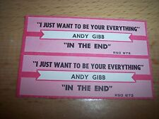 "2 Andy Gibb Just Wanna Be Your Everything Jukebox Title Strip CD 7"" 45RPM Record"
