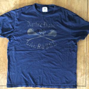 Notre Dame Lacrosse T-Shirt Men's XXL Blue