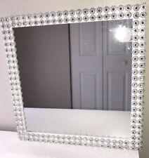 Silver Decor And White Frame Mirror