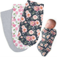 Infant Baby Cotton Blanket Swaddling Towel Baby Swaddling Sleeping Bag AU
