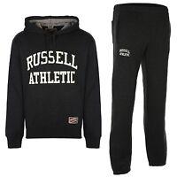 Russell Athletic Men Fleece Grey Hoody Top Tracksuit&Jogging bottoms pants S-XXL