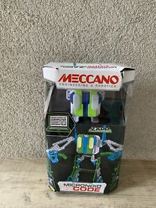 Meccano-Erector Micronoid Named Blaster Programmable Robot Building Kit