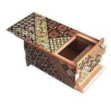 Traditional Japanese Hakone Yosegi Wooden Secret Puzzle Trick Box 21 Steps