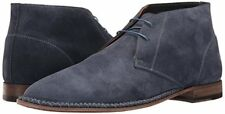 Bruno Magli Mens Tristin Casual Dress Ankle Boots Blue Suede 8 NEW IN BOX