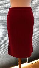 Sexy Straight Lipstick Red Skirt w/ Back Kick Pleats Sunhee Moon SF, XS/S/M SZ 2