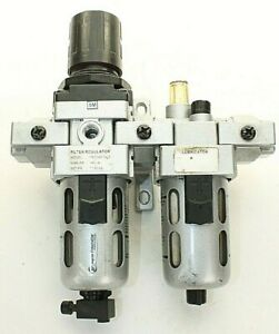 "Jupiter Pneumatics Filter Regulator & Lubricator In-line 1/4"" NPT Polycarbonate"
