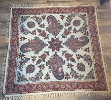 """3' Square Vintage Persian Ghalamkari Esfahan Handmade Tapestry 39x39"""""""