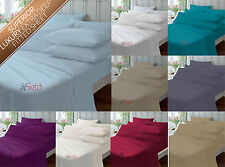 Plain Duvet Cover Case Bed Set Single Double King and Super King Multicoloured