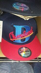 negro league Cleveland buckeyes snapback hat unisex red and dark blue