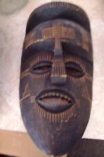 "Unique 17"" Hand Carved African Tribal Wooden Mask Art"