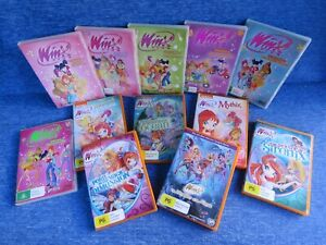 12 x WINX CLUB DVDS SEASON 1 MYTHIX FAIRIES MAGIC ELDORA ABYSS MYSTERY SIRENIX