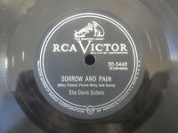 The Davis Sisters, Sorrow And Pain / You;re Gone 1953 RCA Victor 20-5460 Country