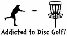 Disc Golf Vinyl Sticker Decal Addicted To DG