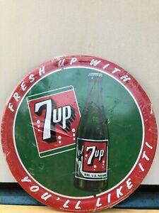 7up Uncola Soda Pop Yahoo Metal Tin Sign Bottle Cap Wall 3D Vintage Decor New