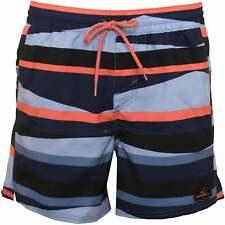 O'Neill Horizon Stripes Pantalones cortos de baño para hombre, Azul/coral