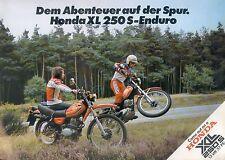 Honda XL 250 S Prospekt 1979 brochure Broschüre Motorrad Asien Japan moto