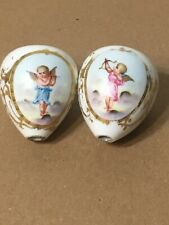 Antique French Hand Painted Cherub Decorated Porcelain Candelabra Pcs Sevres