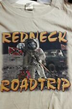 ASTRONAUT SHIRT Rebel On The Moon REDNECK ROAD TRIP T-Shirt SPACE Shirts - LARGE
