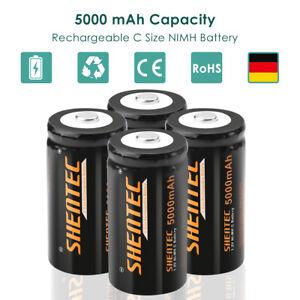 4Stück 5000mAh 1.2V C Cell C Baby Wiederaufladbare Ni-MH Batterien Akku HR14 R14