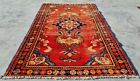 Authentic Hand Knotted Vintage Hamidoun Wool Area Rug 3.9 x 2.5 Ft (11573 KBN)