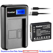 Kastar Battery LCD USB Charger for Panasonic CGA-S007 & Panasonic LUMIX DMC-TZ4