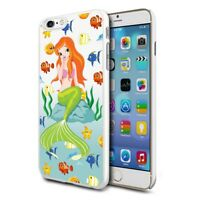 For Various Phones Design Hard Back Case Cover Skin - Cute Mermaid Fishes