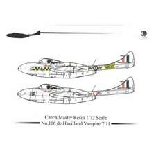 Czech Master Resin CMR 116 1/72 De Havilland Vampire T.11 Resin Kit